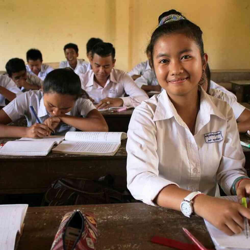 School girl in Cambodia (GPE)