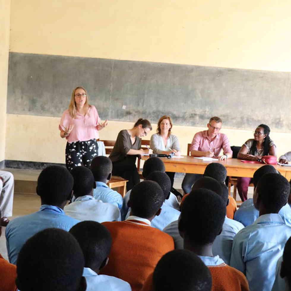 lien voor de klas in Rwanda