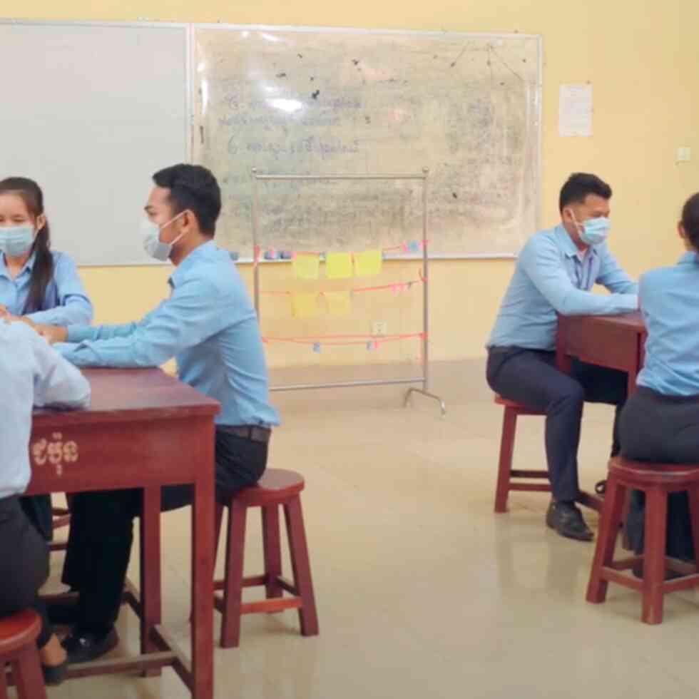 Phon Vanak, a Cambodian student at the Battambang Teacher Education College