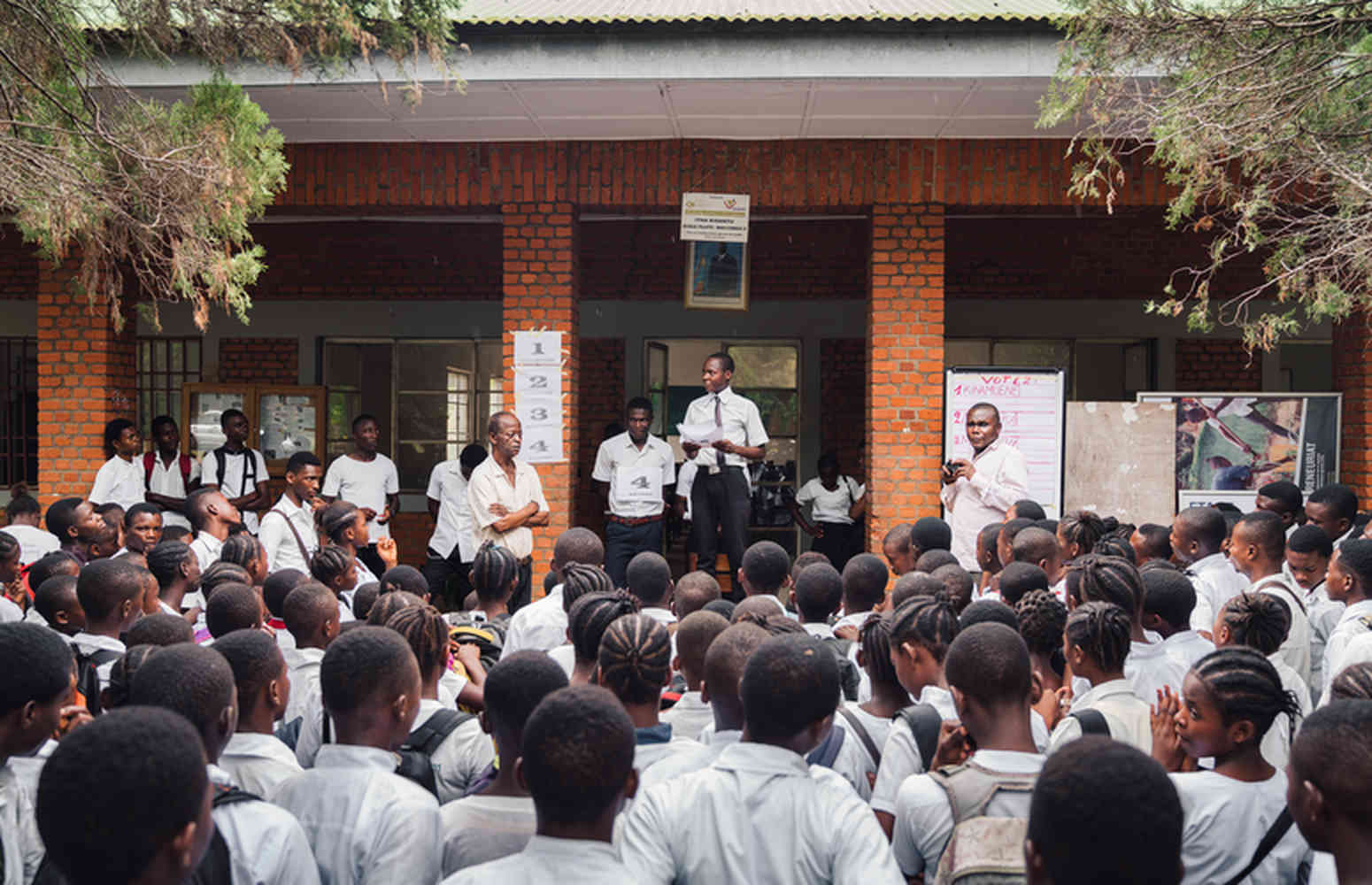 een dag lesgeven in Congo